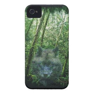 Lobo gris en el caso de Blackberry de la foto de Carcasa Para iPhone 4 De Case-Mate