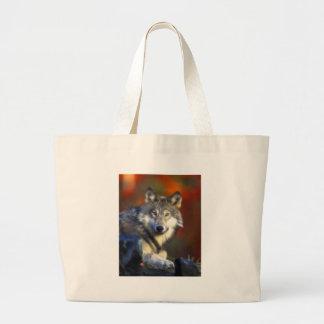 Lobo gris, fotografía de Digitaces en peligro de Bolsa Tela Grande