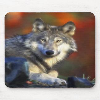Lobo gris, fotografía de Digitaces en peligro de l Alfombrillas De Ratones