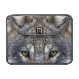 Lobo gris funda para macbook pro