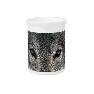 Lobo gris jarron