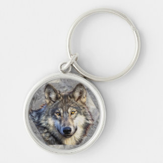 Lobo gris llavero