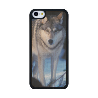 lobo gris, lupus de Canis, en las colinas de los 3 Funda De iPhone 5C Slim Arce