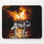 Lobo gris Mousepad Alfombrillas De Raton