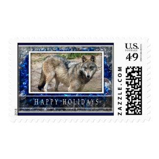 Lobo gris o sello medio del navidad de los lobos