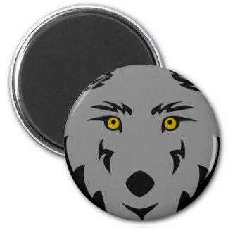 Lobo gris oscuro iman para frigorífico