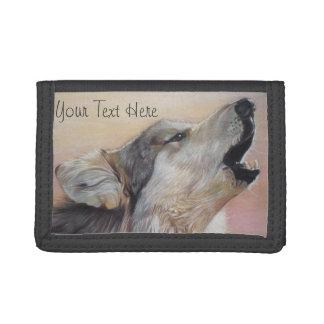 Lobo gris que grita la pintura original del arte