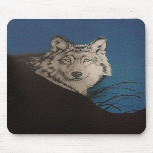 Lobo gris tapetes de raton