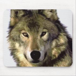 Lobo gris alfombrillas de ratón