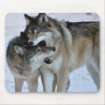 Lobo gris tapetes de ratón