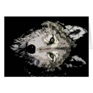 Lobo gris tarjeta de felicitación