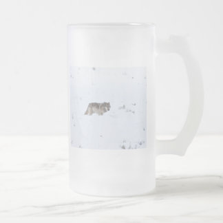 Lobo gris taza cristal mate