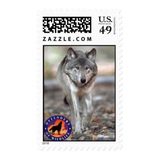 Lobo gris timbres postales