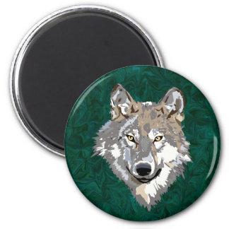 lobo imán redondo 5 cm