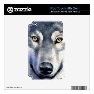Lobo iPod Touch 4G Calcomanía