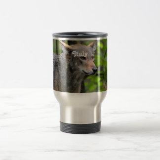 Lobo italiano taza de café