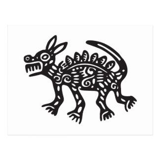 Lobo, jeroglífico mexicano (maya) postales