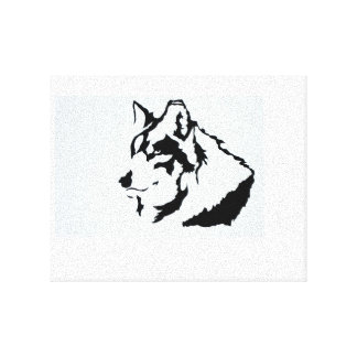 Lobo joven impresión de lienzo