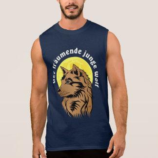lobo joven soñando camisetas sin mangas