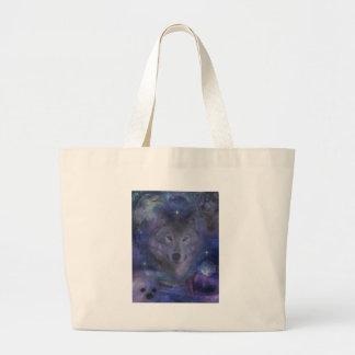 Lobo - líder del paquete bolsa tela grande