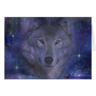 Lobo - líder del paquete tarjeta pequeña