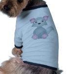 Lobo lindo camisetas de mascota