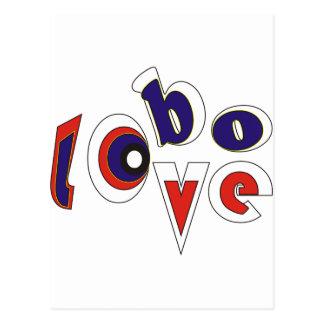 Lobo love postcard