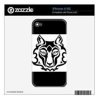 Lobo magnífico y salvaje skin para el iPhone 4
