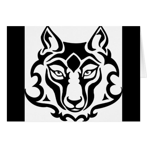 Lobo magnífico y salvaje tarjetas