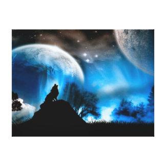 Lobo majestuoso impresión en tela