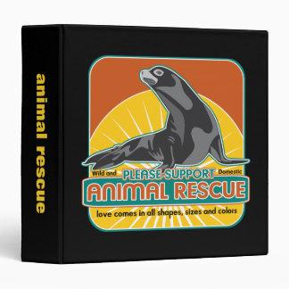 "Lobo marino animal del rescate carpeta 1 1/2"""