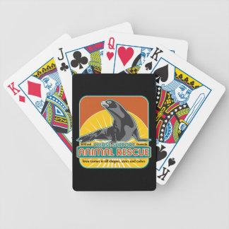 Lobo marino animal del rescate baraja de cartas