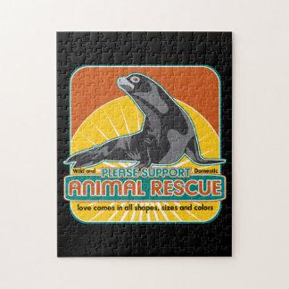 Lobo marino animal del rescate puzzle