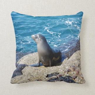 Lobo marino de las Islas Galápagos Almohada