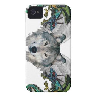 lobo místico iPhone 4 Case-Mate coberturas