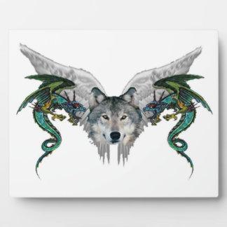 lobo místico placas de plastico