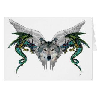 lobo místico tarjeta de felicitación
