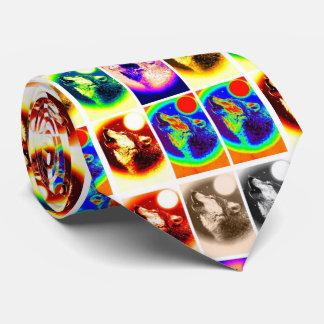 Lobo moderno único del estilo del arte pop corbata personalizada