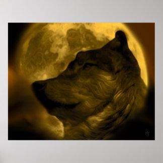 Lobo Moon Print