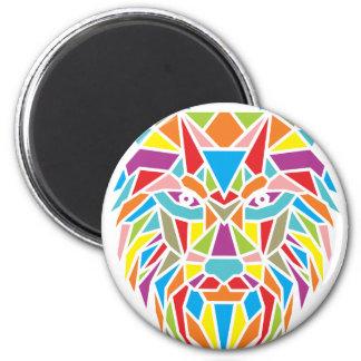 lobo mozaic imán redondo 5 cm
