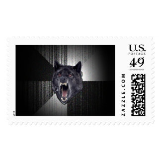 Lobo negro divertido de Meme Memes del lobo de la Estampilla