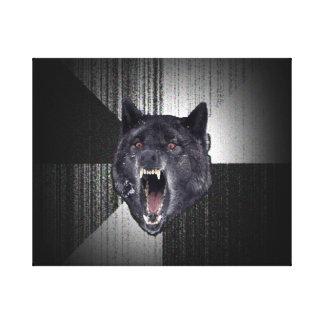 Lobo negro divertido de Meme Memes del lobo de la Impresion De Lienzo