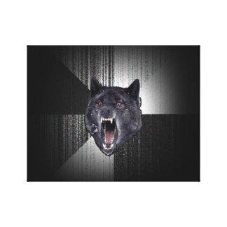 Lobo negro divertido de Meme Memes del lobo de la Impresiones De Lienzo