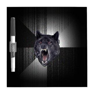 Lobo negro divertido de Meme Memes del lobo de la Pizarras