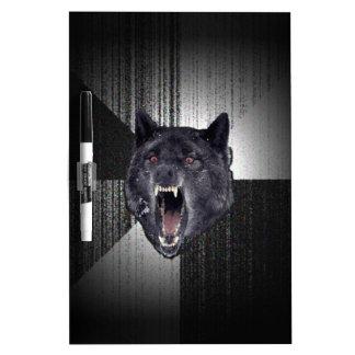Lobo negro divertido de Meme Memes del lobo de la Pizarra
