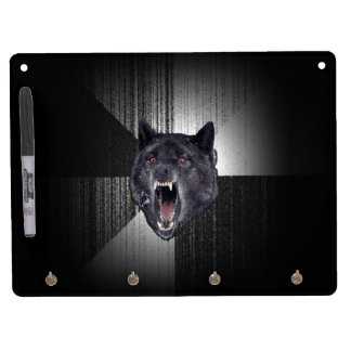 Lobo negro divertido de Meme Memes del lobo de la Pizarras Blancas De Calidad