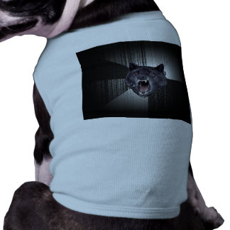 Lobo negro divertido de Meme Memes del lobo de la Playera Sin Mangas Para Perro