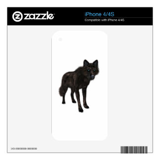 Lobo negro skin para el iPhone 4