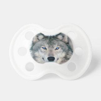 Lobo observado azul chupetes para bebes