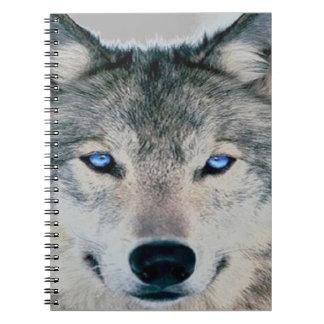 Lobo observado azul note book